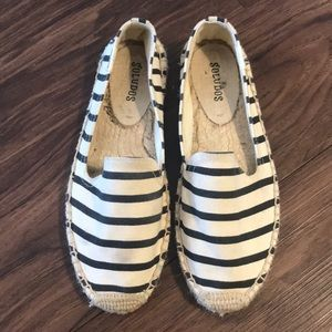 Soludos Natural Striped Slip On Espadrilles